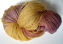 Teeswater Wool Dyed with Rhubarb Leaves
