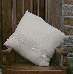 open knit cushion cover