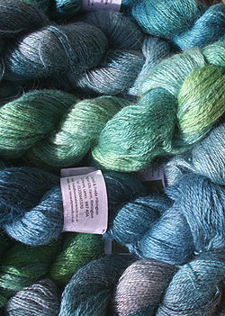 Example of dyed 4-ply