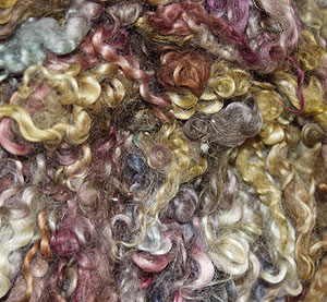 Example of dyed natural fleece