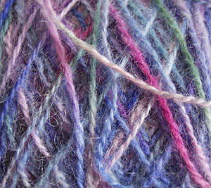 Example of dyed Double Knitting wool